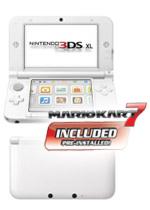 Nintendo 3DS XL (White) + Mario Kart 7