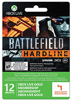Xbox Live Battlefield Hardline Gold Membership - 12 Month + 1 month
