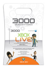 Xbox Live 3000 Points Card