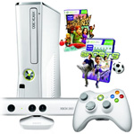 Xbox 360 4GB White Kinect Console