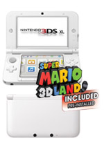 Nintendo 3DS XL (White) + Super Mario 3D Land