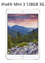 iPad® Mini 3 with Retina Display 128GB WiFi & 3G - Gold