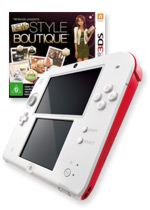 Nintendo 2DS (Red) + New Style Boutique
