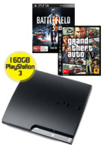 160GB PlayStation 3 + Battlefield 3 + Grand Theft Auto IV (preowned)